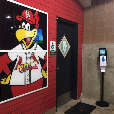 Sunstation sunscreen dispenser at Busch Stadium in St. Louis