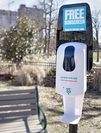 Sunscreen Dispenser by Sunstation USA at parks