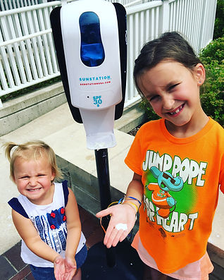 Sunscreen Dispenser by Sunstation USA at The Magic House - St. Louis, MO
