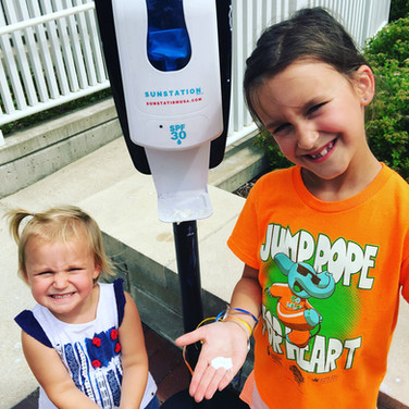 Sunstation USA Sunscreen Dispenser at The Magic House