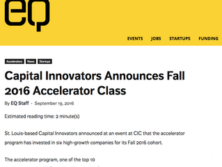 Capital Innovators Announces Fall 2016 Accelerator Class