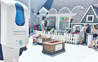 Sunscreen Dispenser by Sunstation USA at The Magic House - St. Louis