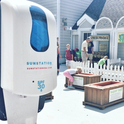Sunstation USA Sunscreen Dispensers at The Magic House