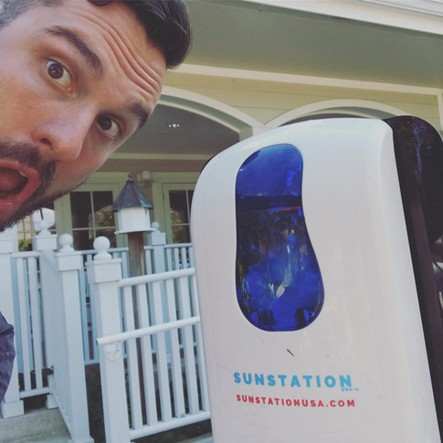 Sunstation sunscreen dispensers at The Magic House