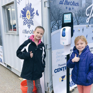 Sunstation USA Sunscreen Dispenser at Winterfest 2016