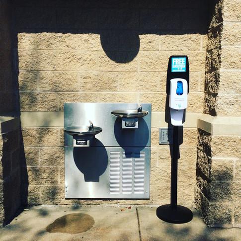 Sunstation USA Sunscreen Dispenser at park