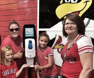Sunscreen Dispenser by Sunstation USA at Busch Stadium - St. Louis Cardinals Baseball