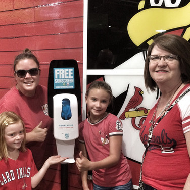 Sunstation USA Sunscreen Dispensers at Busch Stadium