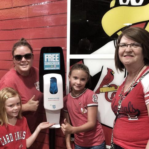 Sunstation USA Sunscreen Dispensers at Busch Stadium
