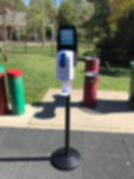 Sunscreen Dispenser by Sunstation USA at park - public health - skin cancer prevention
