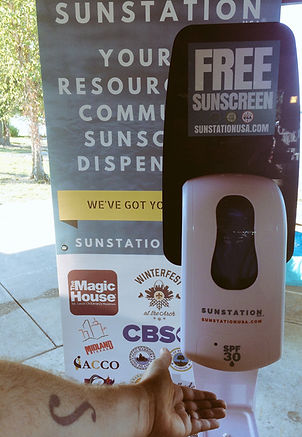 Sunscreen Dispenser by Sunstation USA at Blackout Melanoma 5K race