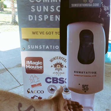 Sunstation USA Sunscreen Dispenser at Blackout Melanoma 5K