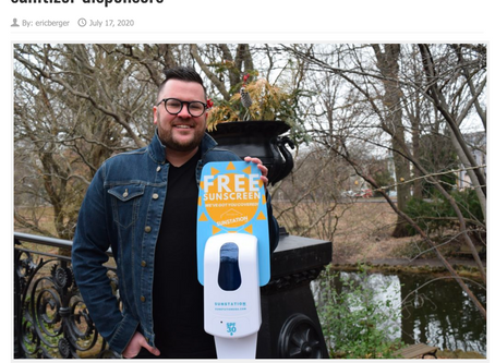Sunsational protection: St. Louis startup finds new use for sanitizer dispensers