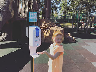Sunscreen Dispenser by Sunstation USA at public park