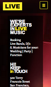 Events website templates – Music Event Production