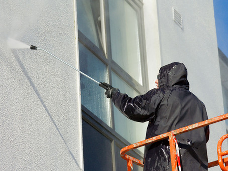 Think You Want to Pressure Wash Your Office Building Yourself? Think Again!