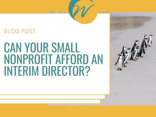 Can your small nonprofit afford to hire an Interim Director?