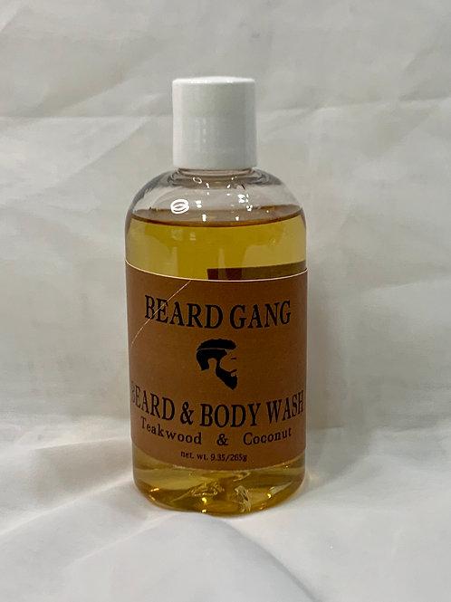Teakwood & Coconut Beard and Bodywash
