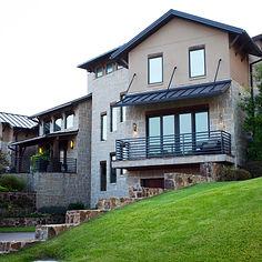 Contemporary Hill Country custom home designed by Frantom Designs