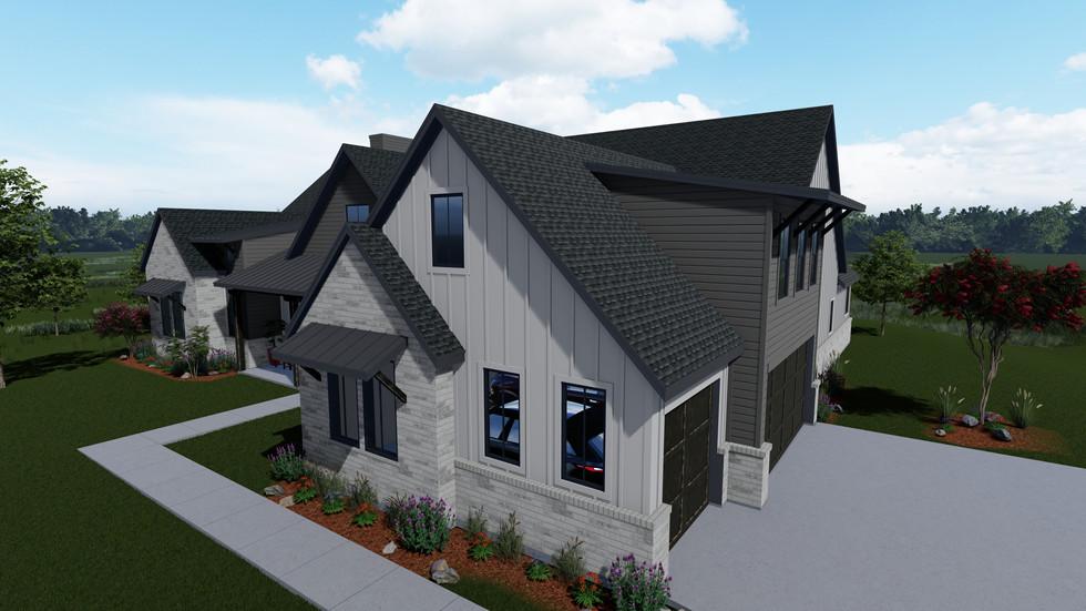 2020-12-02_Frantom Designs_Preston Trail Homes_Chapel Creek Farms_Plan 1_Front Right_Grey.