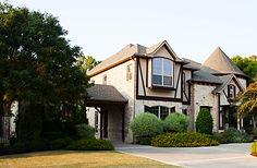 Tudor custom home designed by Frantom Designs
