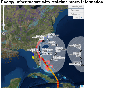 Hurricane Matthew may cause problems for East Coast energy infrastructure