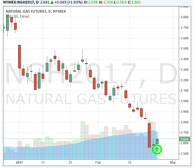 CME Natural Gas Futures 2-02-17