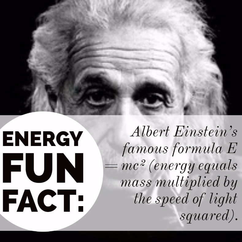 Albert Einstein E=MC2  Energy fun fact