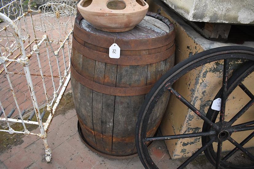 vintage oak barrel