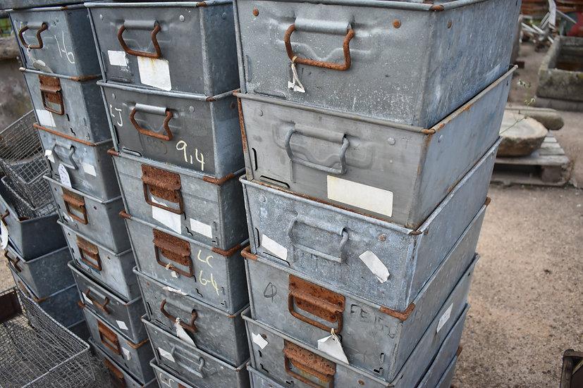 galvanised steel tote tins