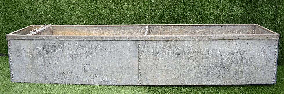 Vintage Galvanised Riveted Trough