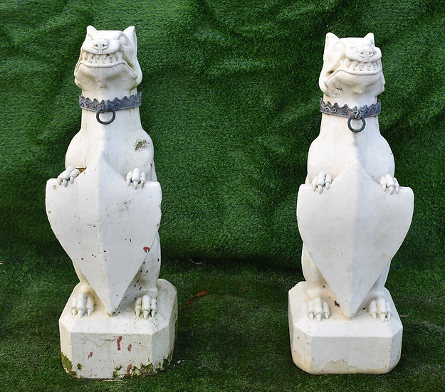 A Pair Reconstituted Stone Dogs