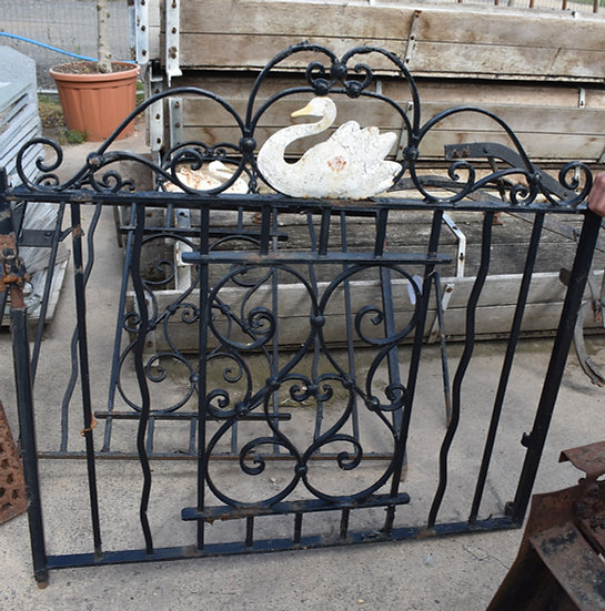 A Pair of Swan Panel Iron Gates