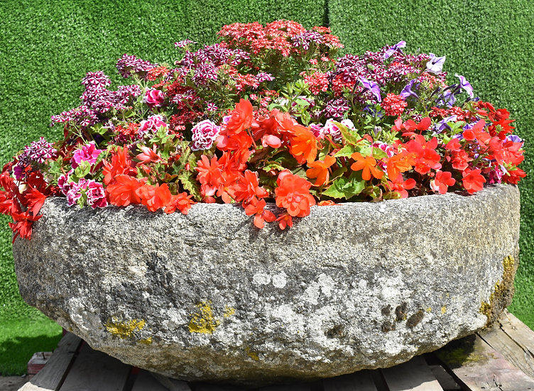 Round Granite Trough