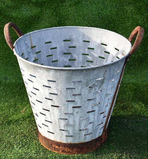 Vintage Galvanised Oyster Bucket