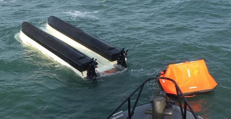Portland sea rescue: Fishermen rescued after boat capsizes