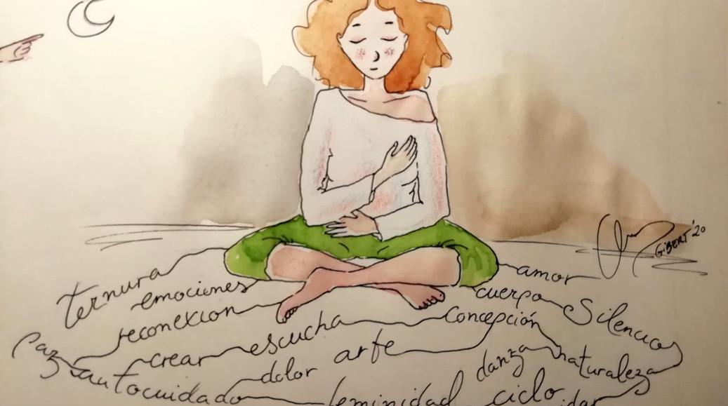 mujer en paz