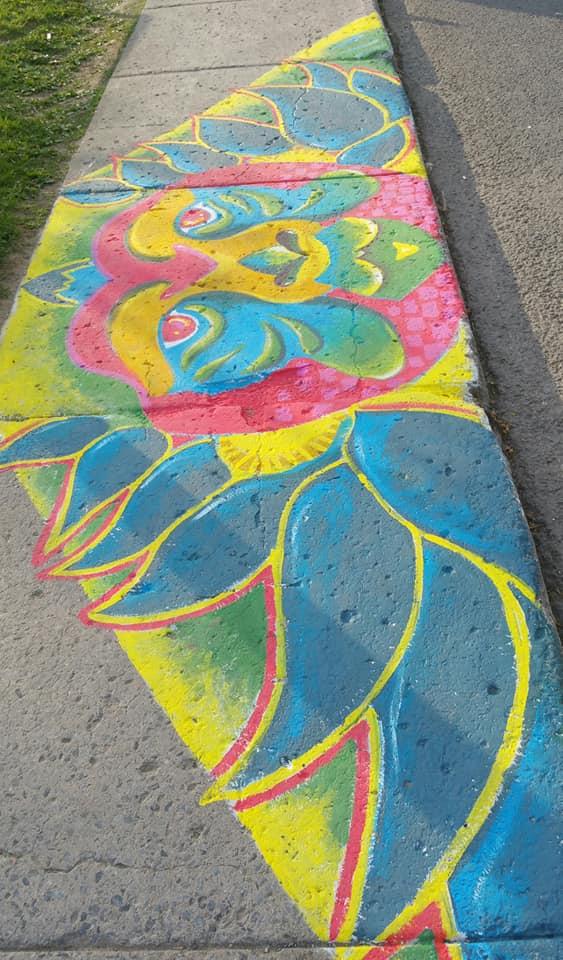 peinture sur sol2