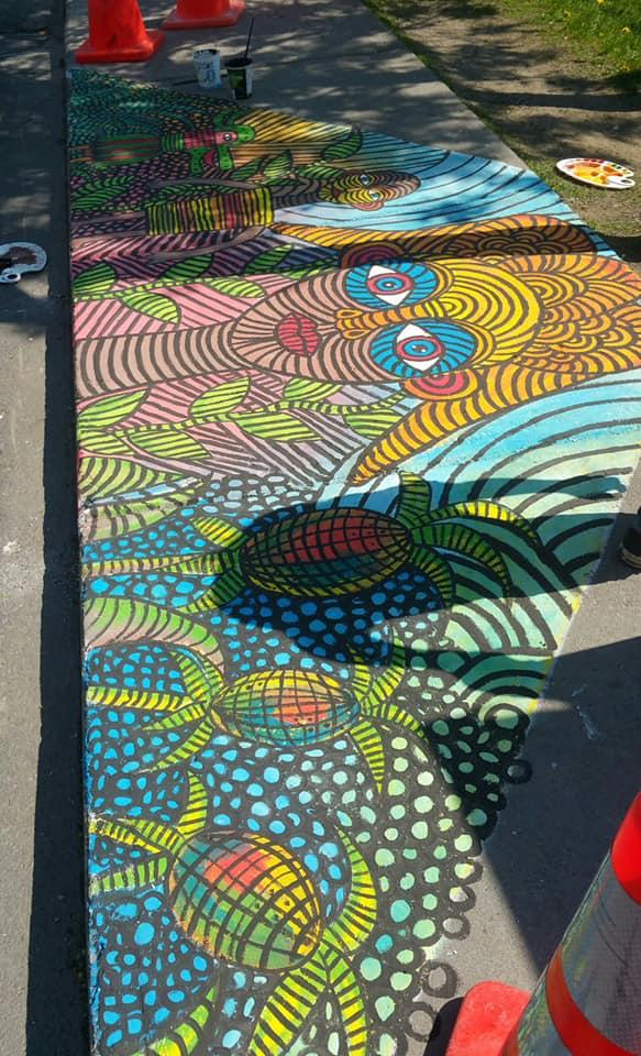 peinture sur sol