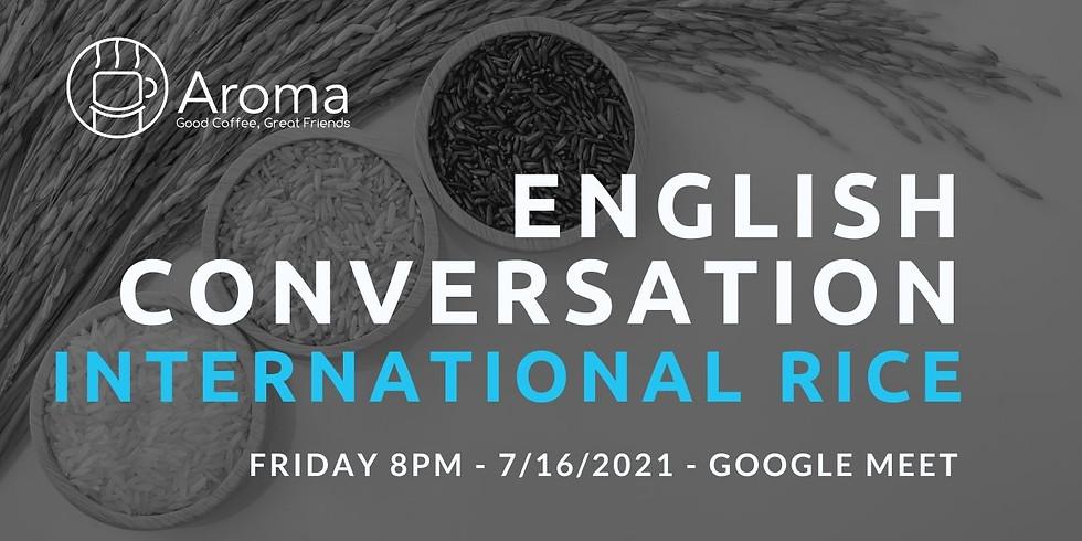 Online English Conversation - International Rice 🍙🌾🍚