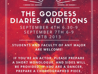 Goddess Diaries 2016 | Audition Information