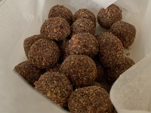 Nutritious and moorish energy balls ~Leslie Gerrish