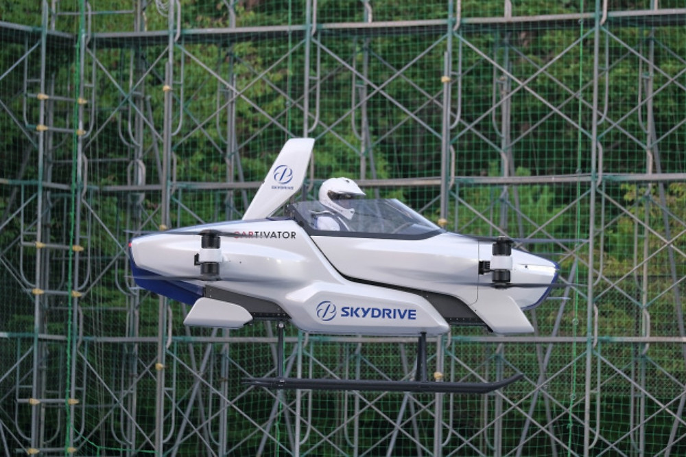 SkyDrive has succesfully tested its first flying car in Toyota Test field
