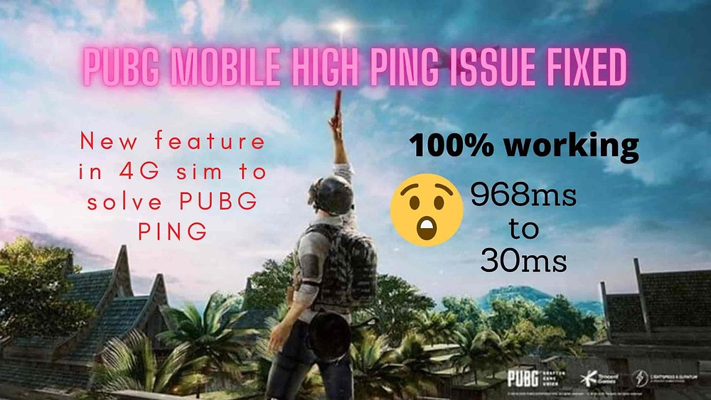 How to resolve pubg mobile high ping issue, Pubg High ping issue fixed in 4G VoLTE. how you can fixed the ping issue