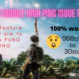 How I resolved my Pubg Mobile high ping issue using 4G VoLTE new feature in one easy method.