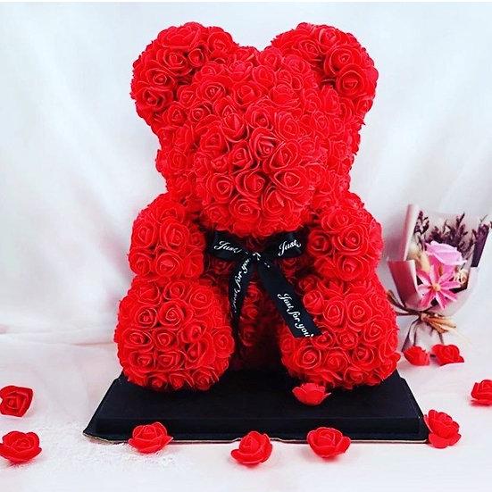 Ours en peluche en fleur éternelle