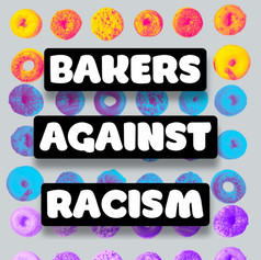 Terms of Use: Graphics created and owned by Rob Rubba and Bakers Against Racism.  Permissible uses are limited to promotion of the initiative/ the organization/ and the individual participants of this event (either digitally or in print).  The use of these graphics for personal profit is expressly prohibited.