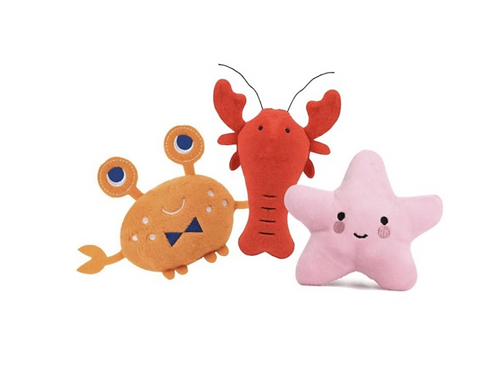 3-Pack Sea Critter Toys