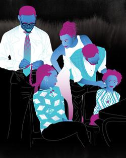 Family hair braiding