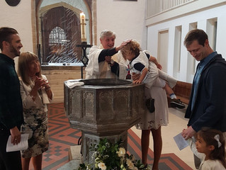 A birthday and becoming a Godparent